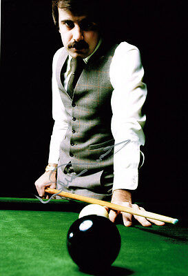 Willie Thorne HAND SIGNED Autograph 12x8 Photo AFTAL COA Crucible Snooker Legend