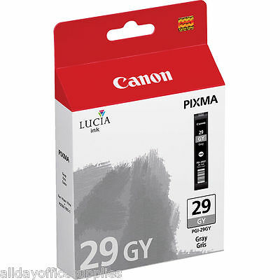 Genuine Canon PGI29 GY Lucia Ink Cartridge - Original Inkjet Cartridge VAT INC