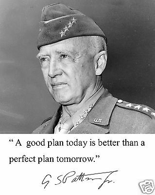 General George S. Patton World War 2  Autograph Quote 8 x 10 Photo Picture #n3