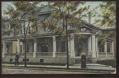 Postcard HUNTINGTON,Indiana/IN   K of P Lodge House view 1907