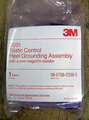 3M Static Grounding Heel Straps, Static Control Assembly, Part No. 2051