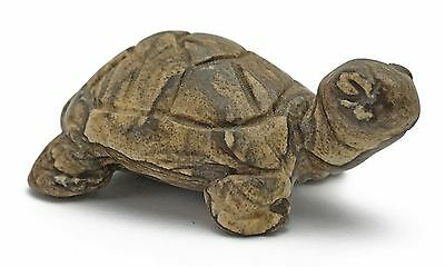 Turtle Picture Jasper Hand Carved Gemstone Animal Totem Statue Stone Sculpture