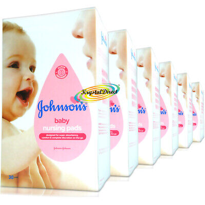 6x Johnsons 30 Disposable Maternity Nursing Breast Pads