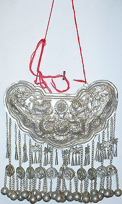 MIAO CHINESE SILVER NECKLACE ORNATE