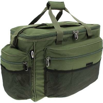 Brand New Large Green Carp Coarse Pike Fishing Tackle Bag Holdall NGT 093 BAG