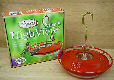 Aspects Red HummZinger Mini HighView 8oz Hummingbird Feeder Model #430 High View