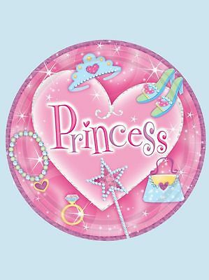 Amscan Princess Birthday  Party Paper Dessert Plates 7 In. 8 Ct