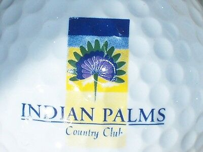 (1) Indian Palms Country Club Golf Course Logo Golf Ball(California)