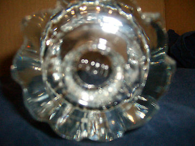 Mint Vintage Crystal Clear Glass Candle Holder by Avon