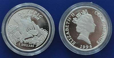 Cook Islands - Proof Silver 2$ Coin 1996 Olympic Park