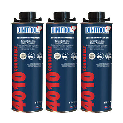 3 x DINITROL 4010 HIGH TEMPERATURE RUST PROOFING ENGINE COATING WAX 1 LITRE