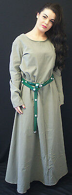 Medieval-LARP-Re enactment LADIES SAGE GREEN OVERDRESS AND KIRTLE SET All Sizes