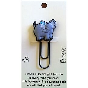 Elephant Funky Paper Clip Style Bookmark/Gift Card Party Bag/Loot Bag