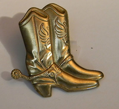 Gold Color Western Boot Buttoneer (2380)