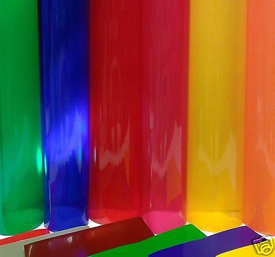 1m ROLL TRANSPARENT COLOURED WINDOW FILM SELF ADHESIVE VINYL STICKY BACK PLASTIC