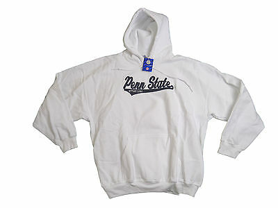 PENN STATE NITTANY LIONS ADULT WHITE EMBROIDERED HOODED SWEATSHIRT NWT