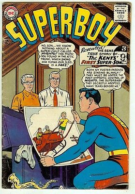Superboy #108 (1963 fn- 5.5) guide value in this grade: $24.00 (£18.00)