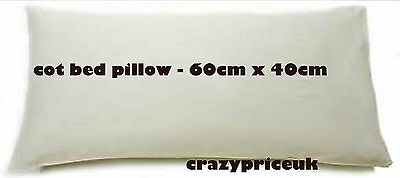 NEW HOLLOWFIBER ANTI-ALLERGY BABY PILLOW FOR COT BED 55cm x 36cm FOR UNISEX