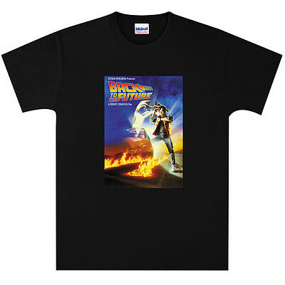 Back to the Future Film Poster T Shirt New Black or White