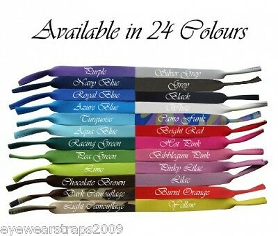 NEW One Sunglasses / Glasses Neoprene Sports Band Strap Choose From 24 Colours!