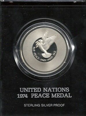 United Nations - 1974 Peace Medal - 39mm Silver