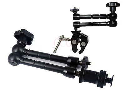 """11"""" inch Articulating Magic Arm + Small Super Clamp DSLR Rig LCD Monitor LED"""
