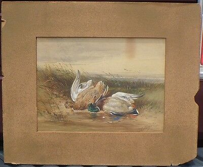 Antique Fine Art Sporting Watercolor Painting James Hardy Junior Hunting Scene