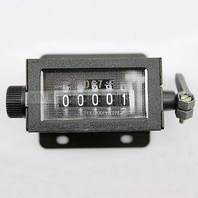 Mechanical 5 Digit Click Counter Manual Hand Tally New