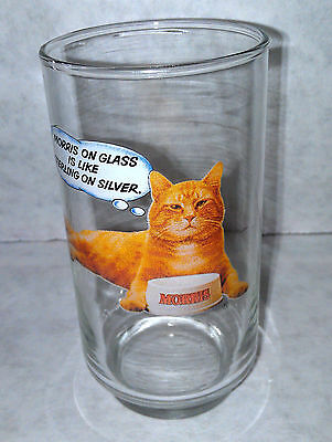 Morris the cat 9 Lives Morris on Glass is Like Sterling on Silver New Vintage