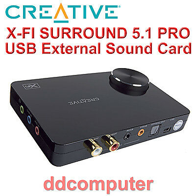 Creative Sound Blaster X-Fi Surround 5.1 Pro USB External Sound Card