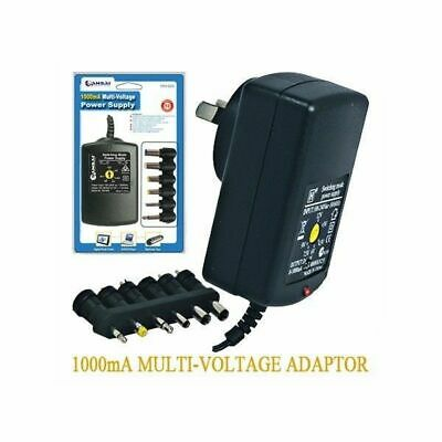 Multi Voltage Power Adapter 1000mA 3-12v 1A Plug pack New