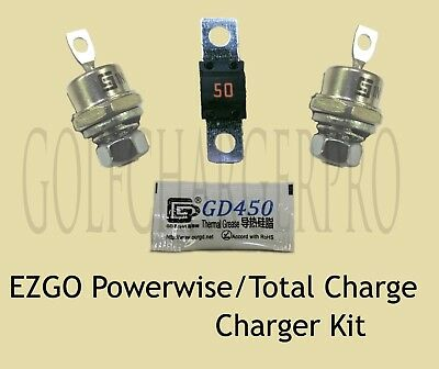 Ezgo Powerwise Total Charge 36 Volt Golf Car Charger Diode Rectifier Fuse Kit