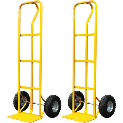 2 X 600Lb Heavy Duty Sack Truck Industrial Hand Trolley Tyre Pneumatic Wheel New