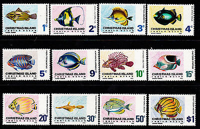 1968 Christmas Island Indian Ocean Fish (Definitives) MUH - Complete Set
