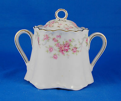 Hutschenreuther RICHELIEU 7658 Sugar Bowl and Lid 3.5 in. Gelb Pasco Pink Roses