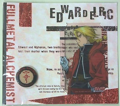 Fullmetal Alchemist Official Pins & clear card Edward Elric anime Authentic