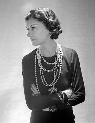 COCO CHANEL FAMOUS FRENCH FASHION DESIGN  PHOTO  8x10 PICTURE
