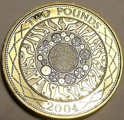 Cameo Proof Great Britain 2004 2 Pounds~Bi-Metal~Technology~Free Shipping