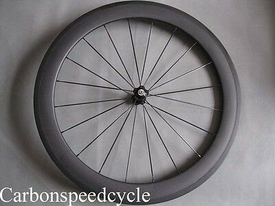 60mm clincher carbon front wheel only