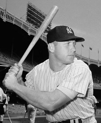 Mickey Mantle New York Yankees 8 x 10 Photo Picture b/w