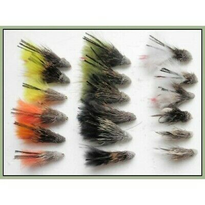 Muddler Minnow Trout flies, 18 Pack, 6 Colours, Mixed Size 8/10/12, Fly Fishing