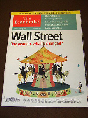 THE ECONOMIST - WALL STREET - Sept 12 2009 Vol 392 # 8648