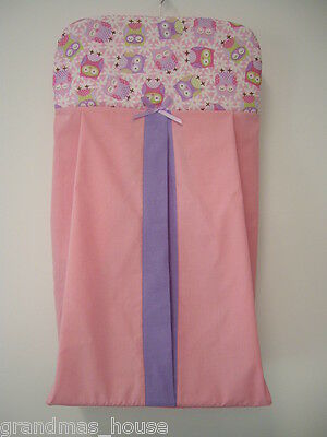 Purple Owl Nappy Diaper Stacker