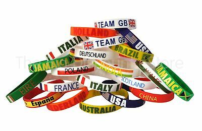 Country Silicone Rubber Wristbands - Olympics - Euro - Football - All Nations