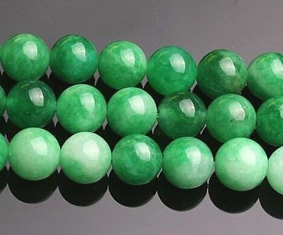 8mm Green Emerald Round Loose Beads Gemstone 15""