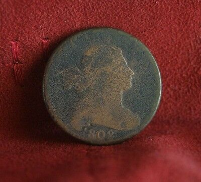 1802 Large Cent Draped Bust  Extremely Rare Early US Coin