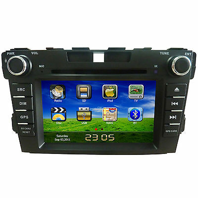"""7"""" HD Touch Screen Car DVD Player GPS Navigation for Mazda CX-7 2007-2012"""
