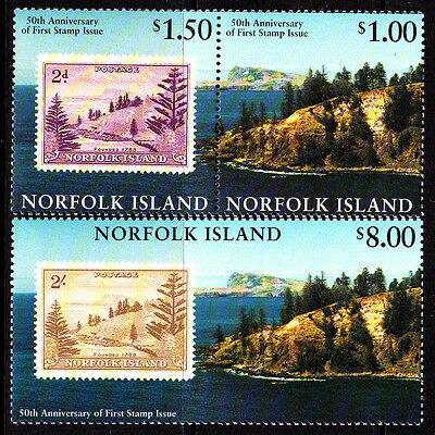 1997 Norfolk Island 50th Anniversary of 1st Postage Stamps  MUH Complete Set