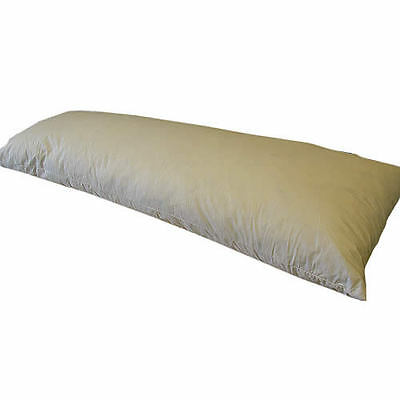 Duck Feather Bolster Pillow All Sizes Cambric Cover Medium & Firm support