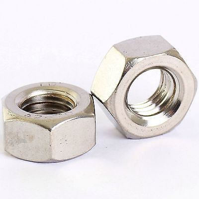 10 Pack Stainless Hex Full Nuts M2 M2.5 M3 M4 M5 M6 M8 M10 M12